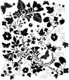 complicated black design poster