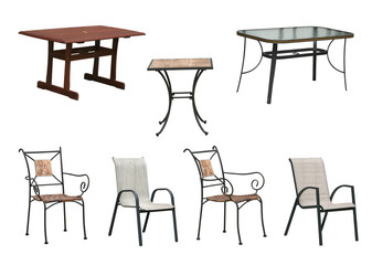 tables and chairs clipping paths