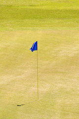 Blue Flag on Eighteenth Green