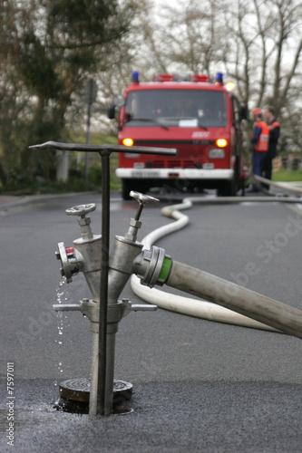 In de dag Tunnel Feuerwehr Einsatz