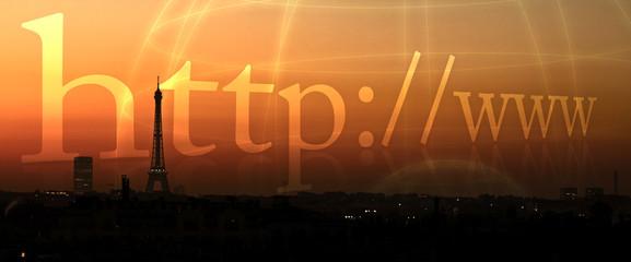 web internet connexion capitale france réseau tour monde planète