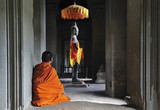 Cambodia Angkor Wat time to pray