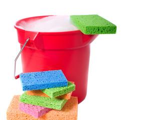 Bucket and Sponges