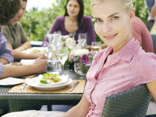 Woman at Dinner Party