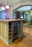 kitchen with wine refrigerator - Fine Art prints