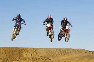 Motocross Racers Mid-Air