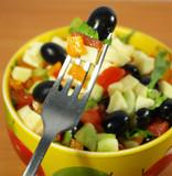 Vegetarian greek salad poster