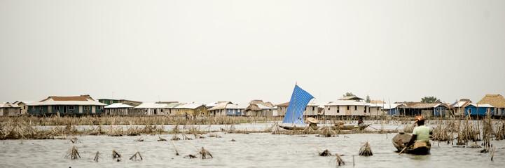 Stilt village of Ganvie in Benin