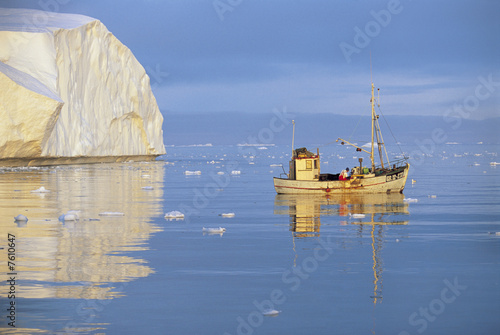 Fishing Boat on Icy Waters