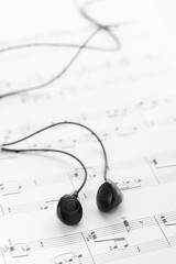 Sheet Music and Headphones