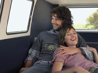 Couple Cuddling in Van