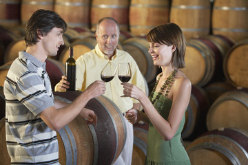 Couple Toasting at a Winery