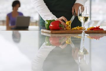 Man Preparing Dinner