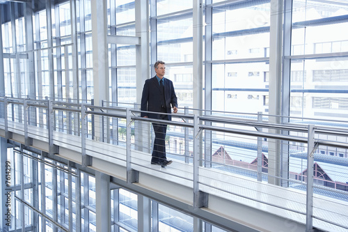 Businessman in Modern Building
