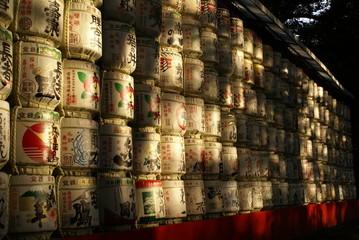 Barrels near the shrine