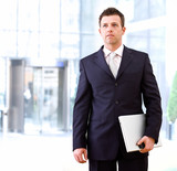 Determined businessman outdoor