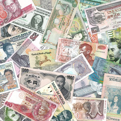 A selection of bank notes