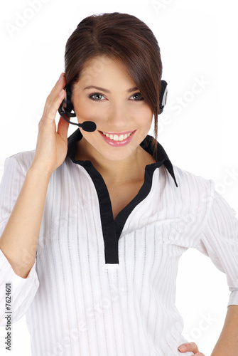 Cusomer service girl with headset