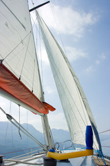 Sailing on Garda lake