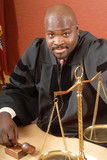 Smiling judge