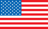 illustrated united states flag ideal as a desktop or background poster