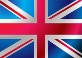 British flag blowing in the wind ideal background poster