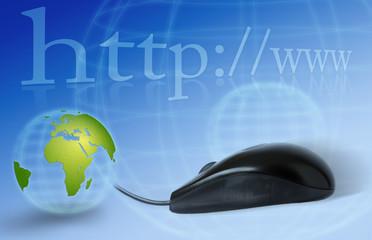 web internet réseau monde toile www http