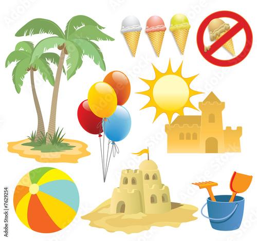 Summer vacation, design elements