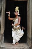 Cambodia, Angkor: Apsara in BAYON temple