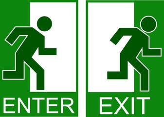 enter exit sign