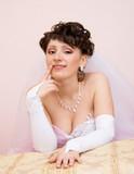 Beautiful proud bride poster