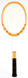 Wood Vintage Tennis Racquet with Leather Grip poster