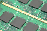 Closeup of micro chips poster