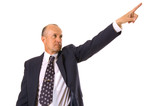 businessman pointing forward poster