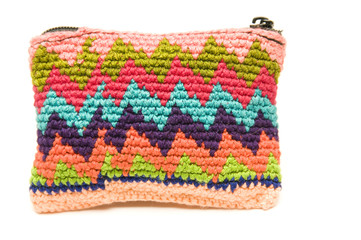knitted small carry bag made in honduras