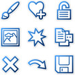 Image viewer icons 2, blue contour series
