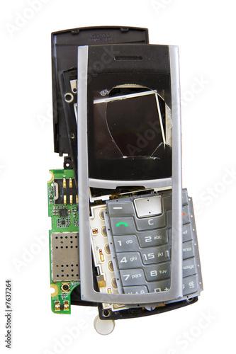 Broken mobile phone