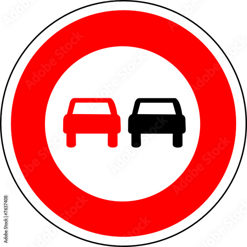 a0151 panneau interdiction doubler voiture voiture fichier vectoriel libre de droits sur la. Black Bedroom Furniture Sets. Home Design Ideas