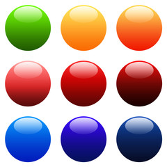 Colourful Round Gradient Web Buttons