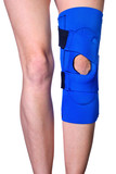 Knee in Knee Brace after an injury poster