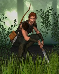Forest Hunter with background