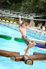Boy at a waterpark