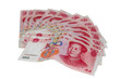 Chinese money isolated on white - 100 yuan notes