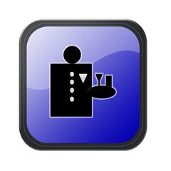 blue button - service