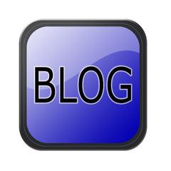 blue button - blog