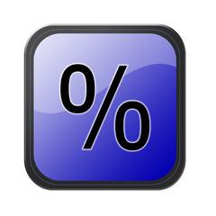 blue button - prozent