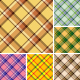 Collection of plaid. Seamless patterns poster