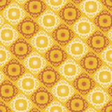 Seamless yellow ornament vector pattern