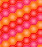 Red hexagon tiles. Seamless vector pattern poster