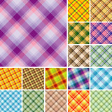 Big collection of seamless plaid patterns. Volume 4 poster